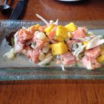 Trout and mango ceviche