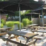 Outdoor Seating Area (surrounded by sea shells)