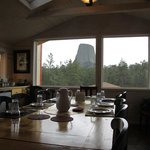 Devils Tower as seen from the Dining Room