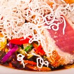 Fine dining entrées like Sesame-Crusted Yellowfin Tuna