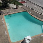 Looking down on pool from 3rd floor