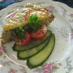 Salmon Frittata with Pickled Cucumbers (Second Course)