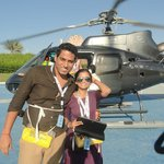 Helicopter ride of the hotel