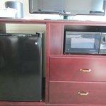 T.V., microwave & mini fridge