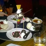 The dessert tray (it's fake)