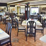 The café is spacious, clean and bright with touches of Acadian decor.