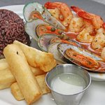 Seafood Varadero with Moros and Fried Yuca (Best restaurant in Naples, Florida)