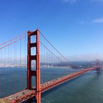 View of Golden Gate Bridge during our tour