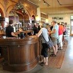 The wine tasting bar