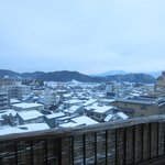 View from private onsen