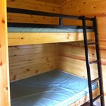 Beds (same on both sides only 1 ladder though for 2 top bunks)