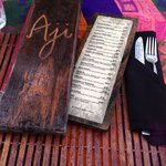 Wooden menus and woven tablecloths along the beach made for an authentic experience. Fresh group