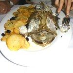 Rana pescatrice con patate e olive