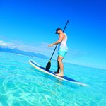 Paddle boarding from the beach