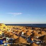 vue sur la plage Lourenco en fin d'après-midi