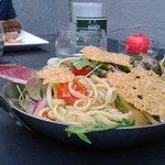 linguines aux langoustes et palourdes, parmesan