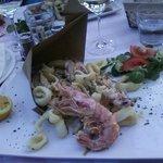 Fritto di pesce al Ristorante Giardino Cannero Riviera