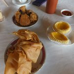 Fried Yam, wanton & egg tarts