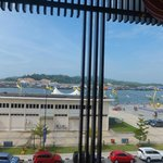 View of Kampong Ayer from restaurant's windows