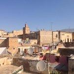 Il panorama dalla terrazza del Riad