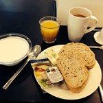 Ontbijt bij Wakeup Copenhagen: niet verbazingwekkend, maar gezond en lekker!