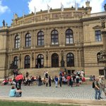 Rudolfinum, music hall in Prague. Home to Czech Philharmonic Orchestra.