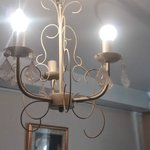Chandelier in room 7 missing a bulb