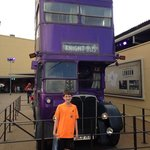 my boy at harry potter tour