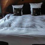 het zeer grote bed met elektrische bodems