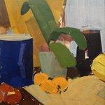 Ed. Weie: Nat. morte med potteplante og appelsiner