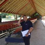 At the canoe house, Waitangi Treaty Grounds