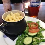 Mac and cheese plus a nice pint