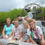 Gezellige airboat tour.