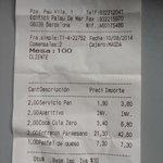 La cuenta, the bill (overprice)