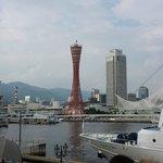 Le port de Kobe vu depuis les quais