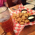 Fried pickles and 22 oz Sweet Water 420
