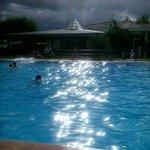 La piscina al atardecer
