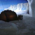 Endlich Kälte! in der Antarktis - alles ist echtes Eis!