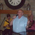 My friend Bill singing with the Trad Lads in the hotel bar