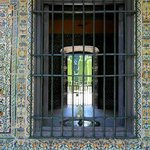 Azulejos - Typical patio in the Alcazar Garden