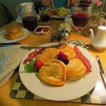A beautifully prepared breakfast