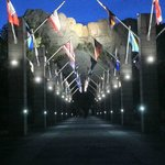 Mt. Rushmore after dark