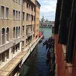 View from our room the other way- canal out to the Grand Canal