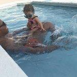 Fun time in the kiddie pool