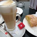 Latte macchiato with our pastries :)