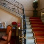 Grand staircase at reception