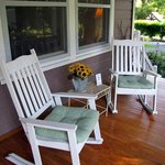 Relaxing porch for reflecting, reading or just having fun