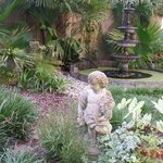 Statue and fountain in the garden