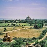 Bagan in the area with all temples