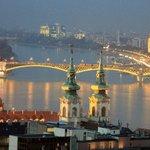 Danube River , City lights in Budapest